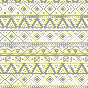 Grey and Yellow Aztec