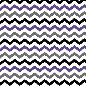 Chevron - Purple, Grey & Black