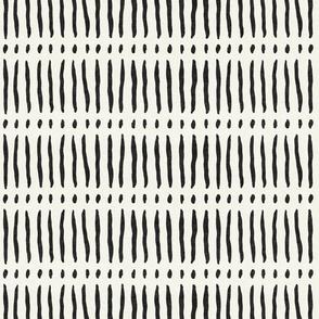 vertical dash mud cloth stripes - onyx on bone - mud cloth inspired home decor wallpaper - LAD19