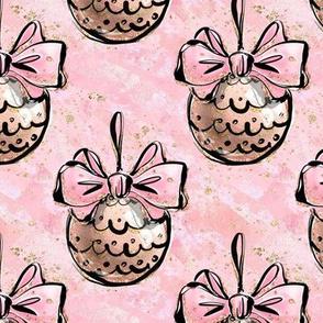 Blush n Pink Bow Christmas ornament