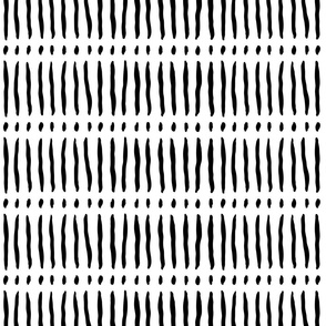 vertical dash mud cloth stripes - black and white - mud cloth inspired home decor wallpaper - LAD19