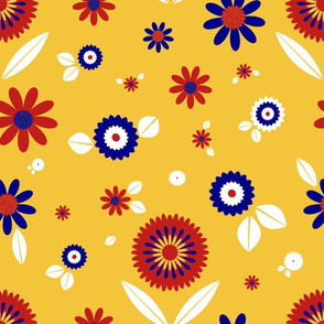 Bright Retro Florals