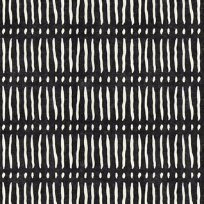 vertical dash mud cloth stripes - onyx - mud cloth inspired home decor wallpaper - LAD19