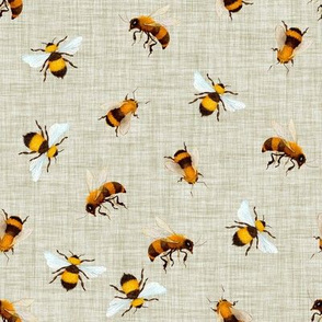 Honey Bees // Moon Mist Linen
