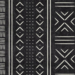onyx mud cloth - dots - mudcloth tribal - LAD19