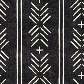 mud cloth arrow stripes - onyx - mudcloth tribal - LAD19