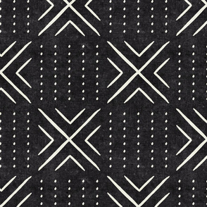 mud cloth tile - onyx - mud cloth inspired home decor wallpaper - LAD19