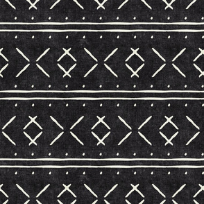 mud cloth stitch - onyx - mudcloth tribal - LAD19