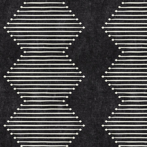 mud cloth - diamond - onyx - mud cloth inspired home decor wallpaper - LAD19