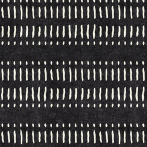 dash dot stripes on onyx - mudcloth inspired home decor wallpaper - LAD19