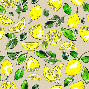 lemlemons drawn with watercolor on white backdrop