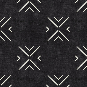 mud cloth tile simple - onyx - mud cloth inspired home decor wallpaper - LAD19