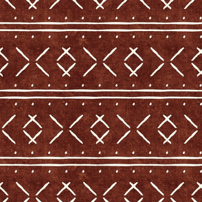 mud cloth stitch - rust - mudcloth tribal - LAD19