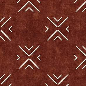 mud cloth tile simple - rust - mud cloth inspired home decor wallpaper - LAD19