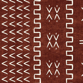 mud cloth - arrow & cross - rust - mud cloth inspired home decor wallpaper - LAD19