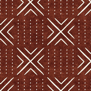 mud cloth tile - rust - mud cloth inspired home decor wallpaper - LAD19