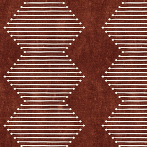 mud cloth - diamond - rust - mud cloth inspired home decor wallpaper - LAD19