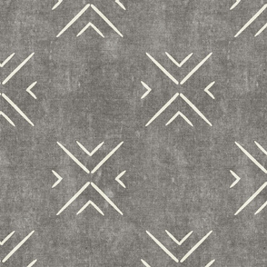mud cloth tile simple - grey - mud cloth inspired home decor wallpaper - LAD19
