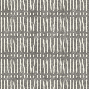 vertical dash mud cloth stripes - grey - mud cloth inspired home decor wallpaper - LAD19