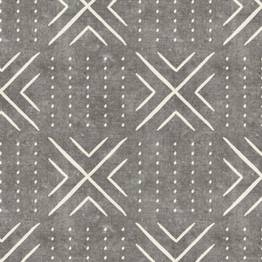 mud cloth tile - grey - mud cloth inspired home decor wallpaper - LAD19