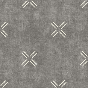 cross - grey  - mud cloth inspired home decor tribal wallpaper  - LAD19