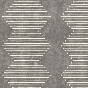 mud cloth - diamond - grey - mud cloth inspired home decor wallpaper - LAD19
