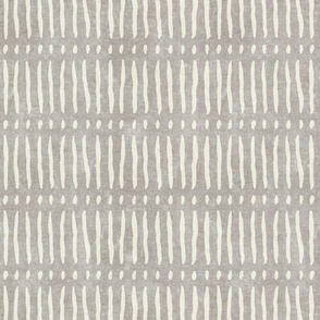 vertical dash mud cloth stripes - stone - mud cloth inspired home decor wallpaper - LAD19