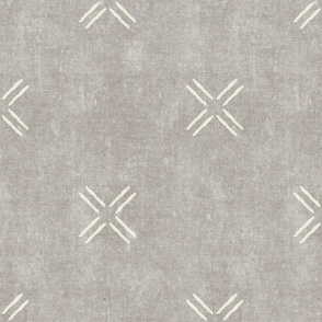 cross on stone -  trendy mud cloth inspired home decor wallpaper - LAD19