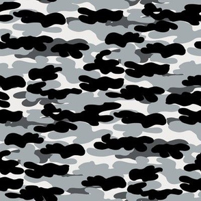 raiders camo - camouflage fabric, black and grey fabric