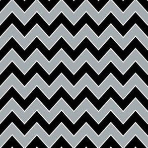 raiders chevron - black and grey chevron, chevron fabric, sports