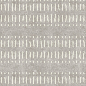 dash dot stripes on stone - mudcloth inspired home decor wallpaper - LAD19