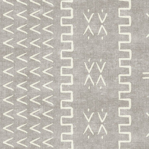 mud cloth - arrow & cross - stone - mud cloth inspired home decor wallpaper - LAD19