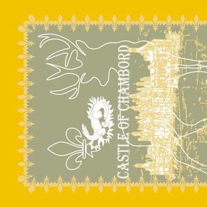 yellow castle of Chambord