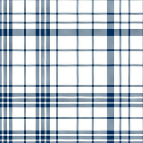 byu plaid fabric - navy and white plaid, navy and white tartan, navy and white check