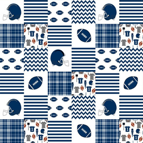 """brigham young quilt fabric - 3"""" squares - byu quilt, cheater quilt fabric, patchwork fabric, college fabric"""