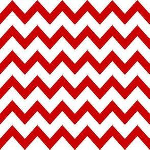utah chevron fabric - red chevron