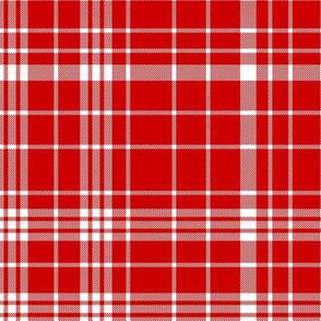 utah plaid fabric - red fabric, tartan, check, plaid fabric - red and white