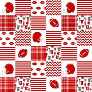 """utah quilt fabric - 3"""" squares - utah quilt, cheater quilt, patchwork, college quilt"""