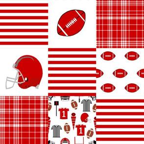 """utah quilt fabric - 6"""" squares - utah quilt, cheater quilt, patchwork, college quilt"""