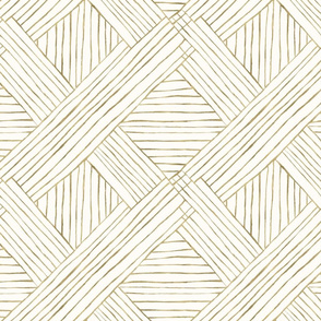 Gold Diamond Stripe-cream