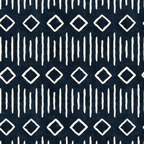 diamond fall - mud cloth - indigo - mudcloth farmhouse tribal - LAD19
