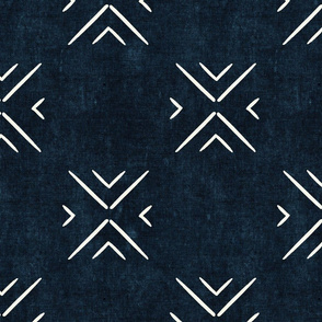 mud cloth tile simple - indigo - mud cloth inspired home decor wallpaper - LAD19