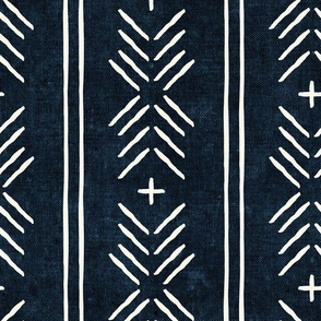 mud cloth arrow stripes - indigo - mudcloth tribal - LAD19