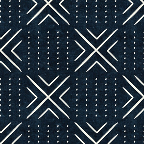 mud cloth tile - indigo - mud cloth inspired home decor wallpaper - LAD19