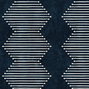 mud cloth - diamond - indigo - mud cloth inspired home decor wallpaper - LAD19