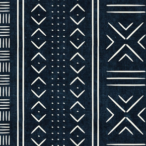indigo mud cloth - dots - mudcloth tribal - LAD19