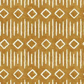diamond fall - mud cloth - mustard - mudcloth farmhouse tribal - LAD19