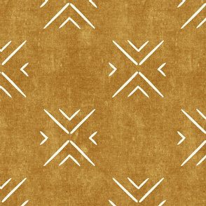 mud cloth tile simple - mustard - mud cloth inspired home decor wallpaper - LAD19