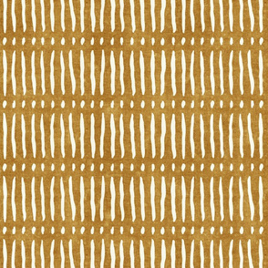 vertical dash mud cloth stripes - mustard - mud cloth inspired home decor wallpaper - LAD19