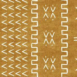 mud cloth - arrow & cross - mustard - mud cloth inspired home decor wallpaper - LAD19